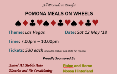 Pomona Casino for meals on wheels